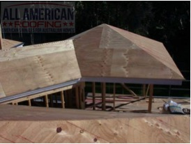 Plywood roof deck for roof shingle tiles